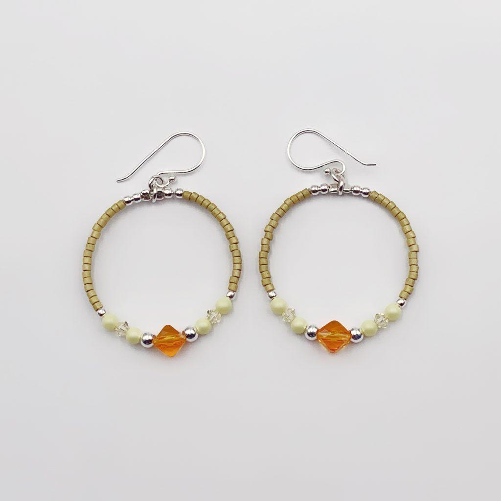 Pendientes Hoop Tangerine Alessandra Boho
